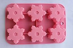 6 Cavity Snowflake Silicone Cake & Chocolate mold Baking