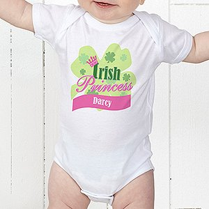 Personalized Irish Baby Girl Clothes - Irish Princess front-964204