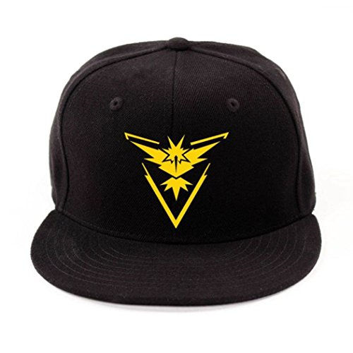 2194e5a829d Pokemon Go Baseball Hat Team Mystic Instinct Valor Blue Yellow Red  Embroider Cap (Yellow)