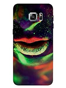 Samsung S6 Edge Plus Cover - Neon Girl Parties Designer Printed Hard - Designer Printed Hard Shell Case