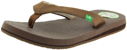 Sanuk Women's Yoga Serenity Flip-Flop,Brown,9 M US