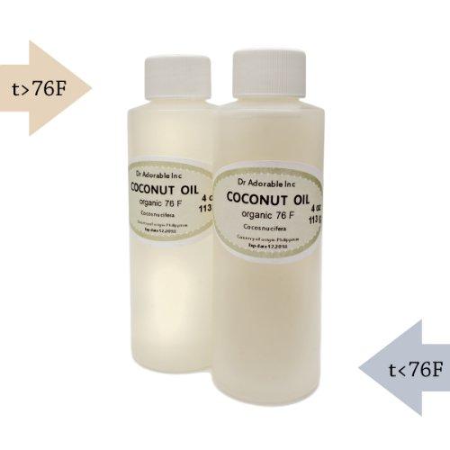 Organic Pure Coconut Oil 76 Degree 4 Oz