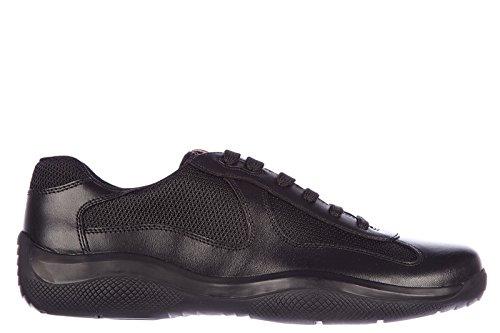 Prada scarpe sneakers uomo in pelle nuove nevada bike nero EU 39.5 4E2043 O0V F0002