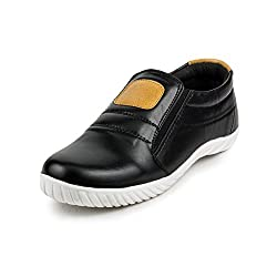 PAN Mens G37 BLACK Synthetic Leather Casual Shoe-9 UK