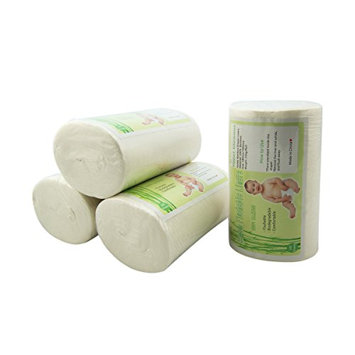 Alva Baby 4 Pack Bamboo Biodegradable Flushable Diaper Liners 4BBT01
