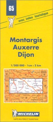 Carte routière : Montargis - Auxerre - Dijon, N°65
