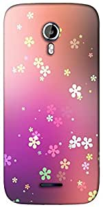 Snoogg Flower graphic Designer Protective Back Case Cover For Micromax A117