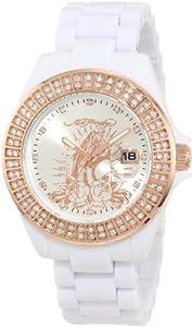 Ed Hardy Women's JO-PT Jolie White Watch