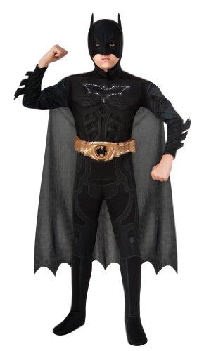 Batman Dark Knight Rises Child'S Deluxe Light-Up Batman Costume With Mask And Cape - Medium