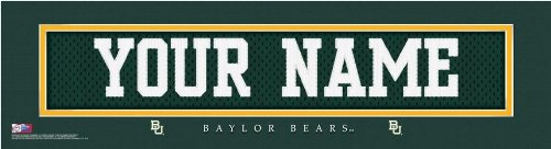 NCAA Personalized Jersey Stitch Print Black Framed Collegiate Baylor Bears at Amazon.com