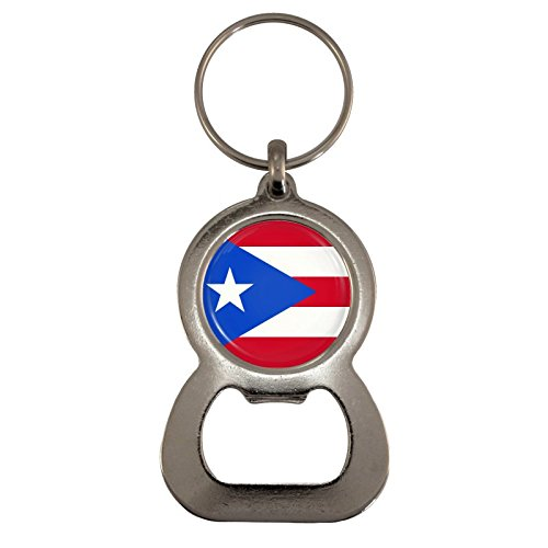 Puerto Rico Flag Design Bottle Opener Keyring (Puerto Rico Bottle Opener compare prices)