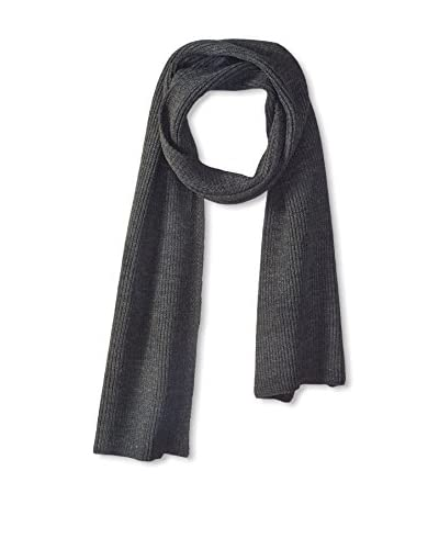 Block Men's Textured Knit Scarf, Charcoal