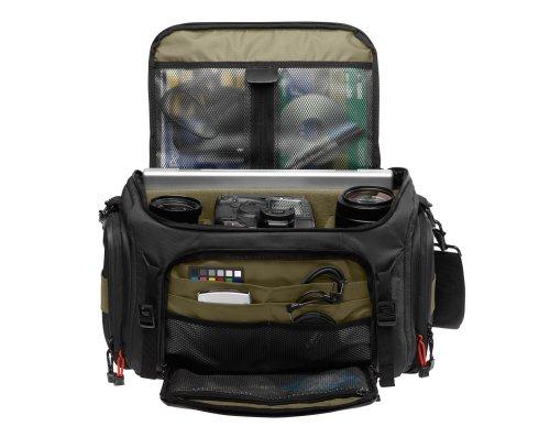 Tenba 632-621 Shootout Large Shoulder Bag (Black/Olive)