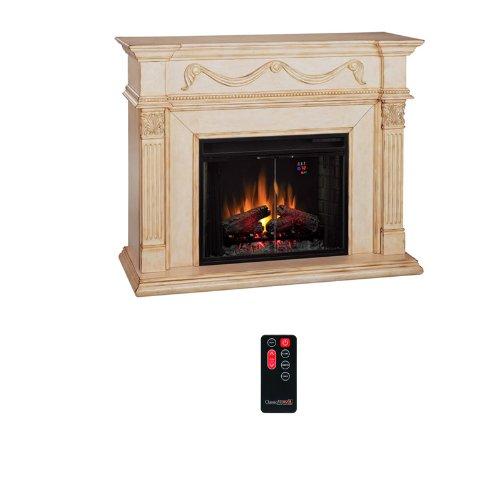 ClassicFlame Gossamer Electric Fireplace Mantel in Antique Ivory - 28WM184-T408 photo B004VYMQJ4.jpg