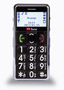 TTfone Neptune Senior Basic Easy Mobile Phone Big Buttons SOS Emergency Button Large Display - BLACK