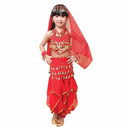 Pilot-trade Kid Children Belly Dance Costume, Harem Pants & Halter Top Sets