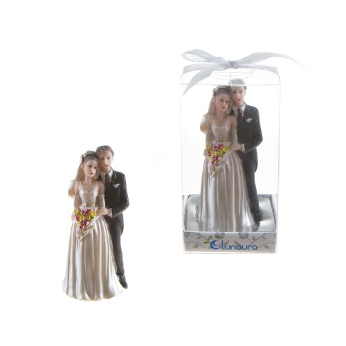 Lunaura Wedding Keepsake - Set of 12 Wedding Couple Statue Favors