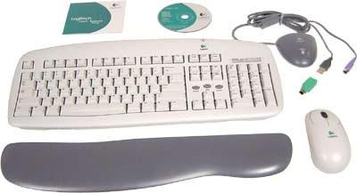 Logitech 967207-0403 Wireless Keyboard and USB MouseB00006HU1C
