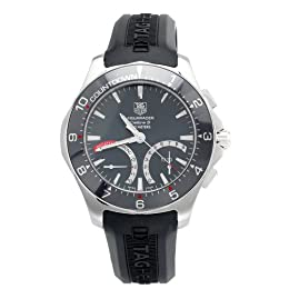 TAG Heuer Men s CAF7111 FT8010 Aquaracer Calibre S Regatta Rubber Strap Watch