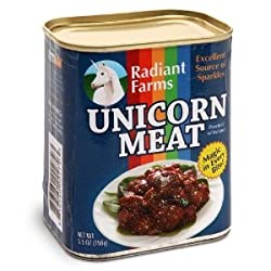 Funny product Canned Unicorn Meat