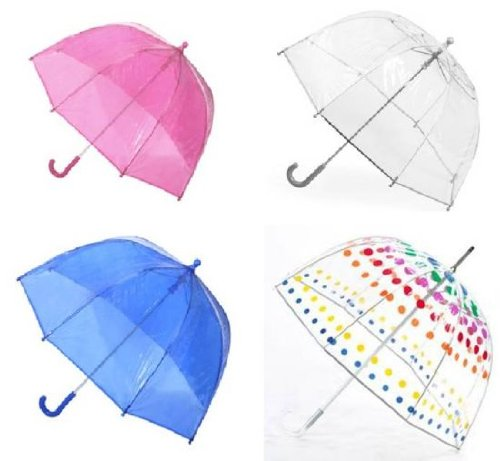 Kids Clear Bubble Umbrella by totes (Bubble/Clear)