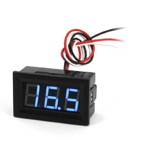 Blue Led 3-Digit Display Dc Digital Voltage Voltmeter 3-Wire 0-100V