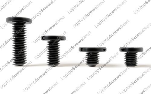 DELL LATITUDE D500 D505 D510 D520 D530 D531 D600 D610 D620 D630 D630C D631 D800 D810 D820 D830 Neu Black Zinc Wafer Head Laptop Screws, Laptop Screw Kit Contains 20X M2X3MM / 20X M2.5X5MM / 20X M2.5X8MM / 10X M3X3MM By LaptopScrewsDirect