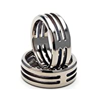 New Titanium Ring, Custom Carved Titanium Bands, Men's and Women's Jewelry 100% Satisfaction