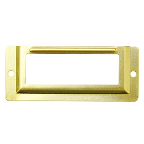 JC Handle Wall or Door Name Plate Holder Small 58x24mm Metal Brass Pack of 10