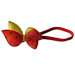 Designer Kart Women's Head Band (DK1520HB05YR_Red Yellow_Free Size)