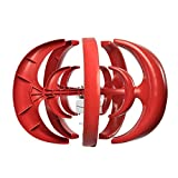 Davitu Alternative Energy Generators - Max 600W AC 12V 24V Wind Turbine Generator Lantern 5 Blades Motor Kit Vertical Axis - (Voltage: 24V, Color: Red) (Color: 24V / Red)