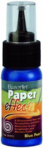 Paper Effects Paint 1oz Squeeze Bottle-Blue Pearl