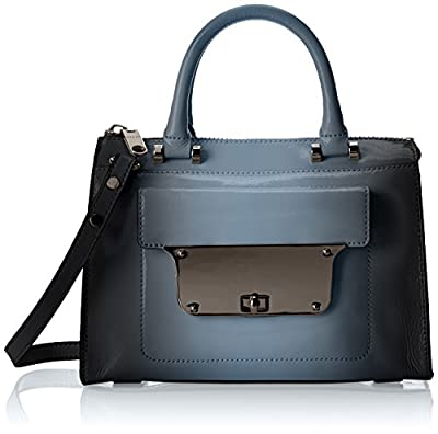MILLY Piper Patent Small Top-Handle Handbag