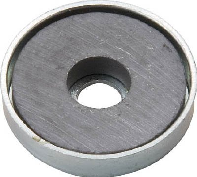 TRUSCO キャップ付フェライト磁石 外径25.5mmX厚み5mm 1個入り TFC25RA1P