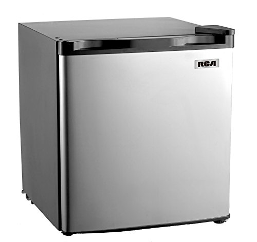 RCA RFR180 1.6-1.7 Cubic Foot Fridge with Spotless Steel Door, Stainless Steel (Stainless Dorm Refrigerator compare prices)