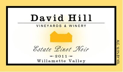 2011 David Hill Vineyards Estate Pinot Noir 750 Ml