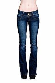 VIRGIN ONLY Womens Slim Bootcut Jeans