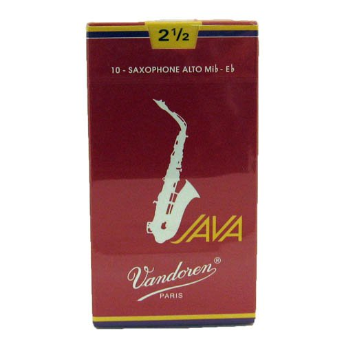 Vandoren SR2625R Alto Sax JAVA Red Reeds Strength 2.5; Box of 10 (Tamaño: Strength 2.5)