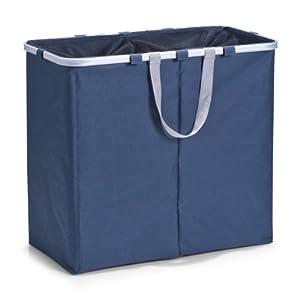 zeller 13297 panier linge double compartiment. Black Bedroom Furniture Sets. Home Design Ideas