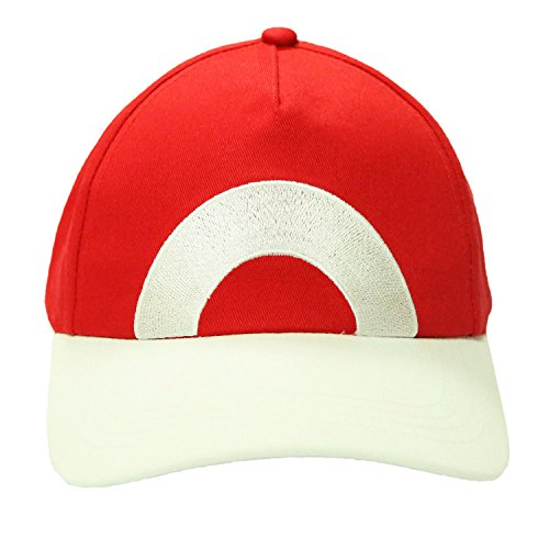 Durable Hat Adjustable Baseball Cap Deluxe Cosplay Costume Accessory Xcoser A (Red Pokemon Hat compare prices)