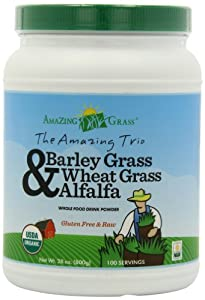 Amazing Grass Amazing Trio Powder 100 Servings, Alfafa, Barley and Wheat Grass, 28-Ounce