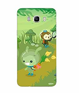 Case Cover Cartoon Printed Green Soft Silicon Back Cover For Samsung Galaxy J7 2016