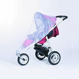 Harmatex 700306 - Mosquitera para silla de paseo con 3 ruedas, color blanco en BebeHogar.com