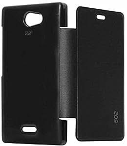 Nokia Flip Cover for Nokia Asha 502 (Black)