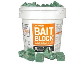 JT Eaton 709-PN Bait Block Rodenticide Anticoagulant Bait, Peanut Butter Flavor, For Mice and Rats (Pail of 72)