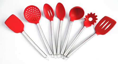 7 Piece Silicone Cooking Tools Kitchen Utensils