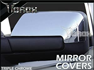 2007-2012 Lincoln Navigator Chrome Mirror Covers - Half Coverage