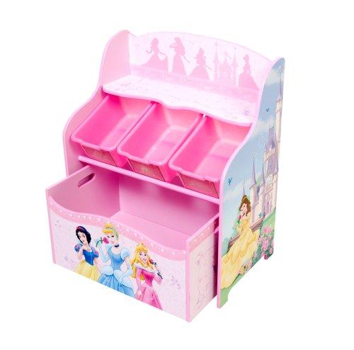 Disney Princess 3 Bin Organizer With Roll Out Toy Box   fgutgrtgjvyti