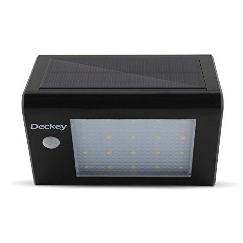 Deckey-LED-Solarleuchte-mit-Bewegungsmelder-Solarlampe-Wandleuchte-Auenleuchte-20LEDs-3W-Kaltwei-fr-Garten-Terrasse-Garten-Treppen-Auenwand1-Stck-Schwarz