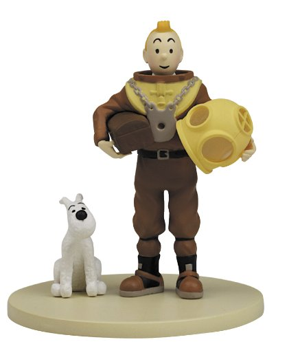 Moulinsart Tintin Diving Suit Box Scene